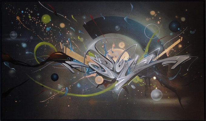 SEVONE,  technique mixte sur toile 100x170cm.