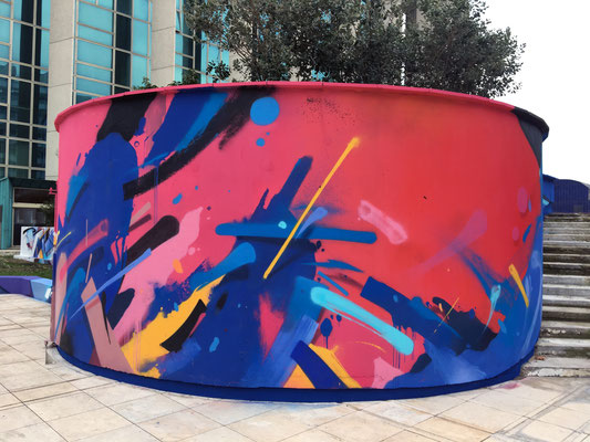 Fresque murale dans le cadre des budgets participatifs de la Mairie de Bordeaux, Aquitaine, France.