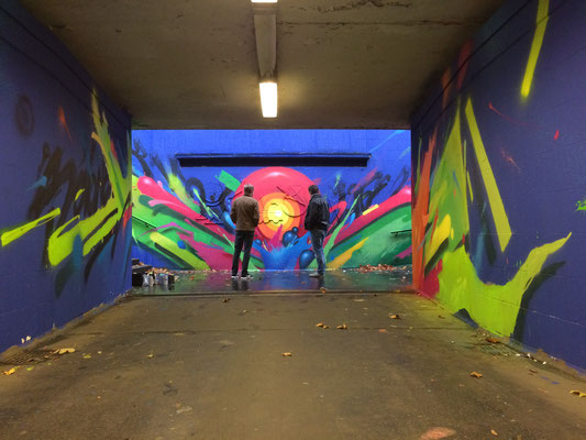 streets of Kassel, Germany. Underground & street art close to university. RAUM FUR URBAN EXPERIENCE.