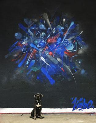 """Fresque murale""""Carène"""" pour la JAM Carte blanche Pessac, Jam organisée par 3GC cartel. 2020"""