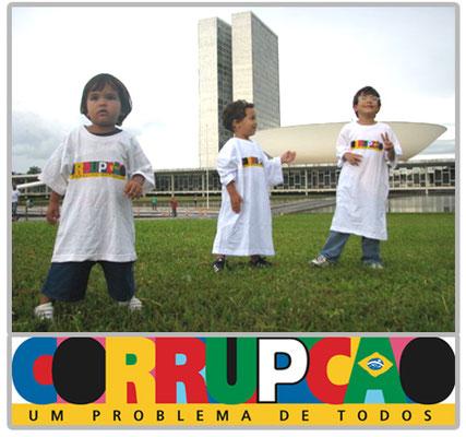 Tshirts Corrupção, um problema de todos - BRASILIA.