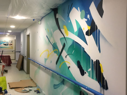 abstract mural