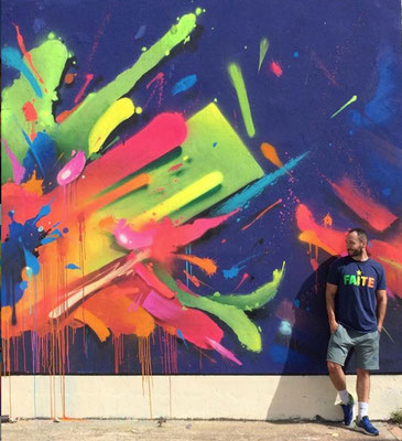 Talence 2018, Neon wall painting