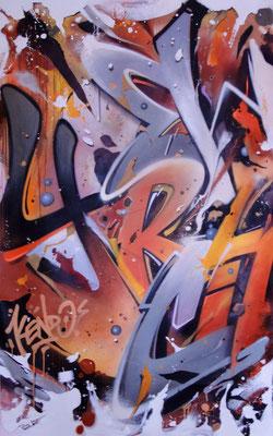 New York City STONE, 100X180cm, technique mixte sur toile.