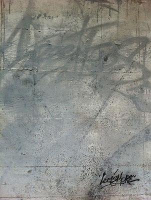 LECSIMORE spray sur TAG ( toile a Graffer-mur de la base sous marine de Bordeaux.100X120cm
