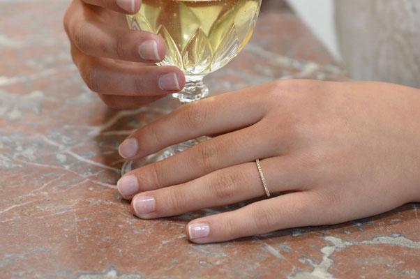 bague femme en or jaune et diamants