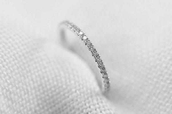bague femme en or blanc et diamants