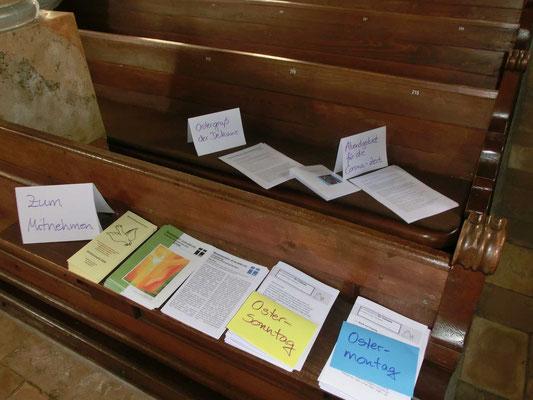 Andachten in schriftlicher Form zum Mitnehmen in der Stadtkirche