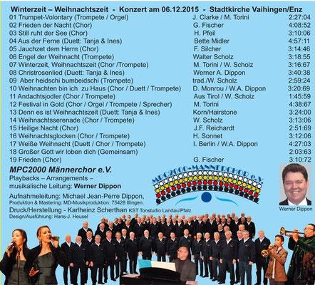 """Winterzeit Weihnachtszeit .. """"ein musikalisches Wintermärchen""""  ... a.c. und mit Begleitung  ... 19 Titel"""