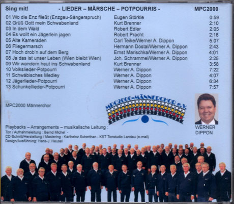Lieder, Märsche, Potpourris  a.c. und mit Begleitung  ... zum Mitsingen ...  13 Titel