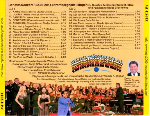 Großes Benefiz- Chor- und Orchesterkonzert -  Doppel-CD ... 31 Titel