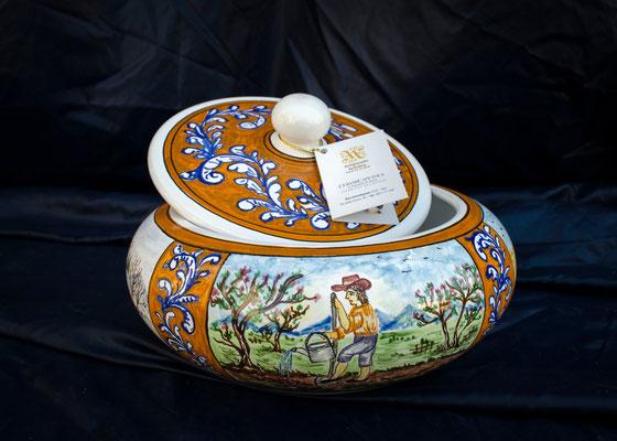 CERAMICA CAPETOLA Portabiscotti 4 stagioni  ceramica abruzzese