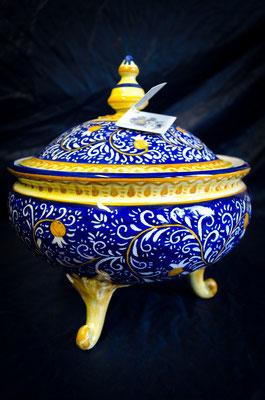 CERAMICA CAPETOLA Zuppiera graffiato ceramica abruzzese