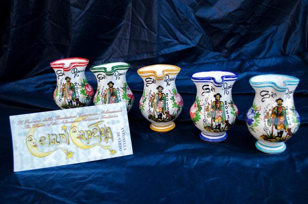 Brocca 1/4 litro San Rocco ,Ceramicapetola