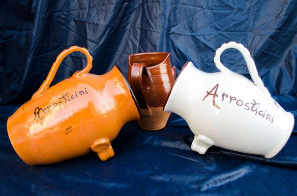 CERAMICA CAPETOLA Portarrosticini ceramica abruzzese