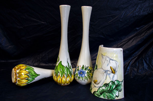 CERAMICA CAPETOLA Portafiori Tegola ceramica abruzzese