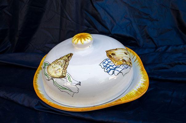 CERAMICA CAPETOLA Portaformaggio  ceramica abruzzese