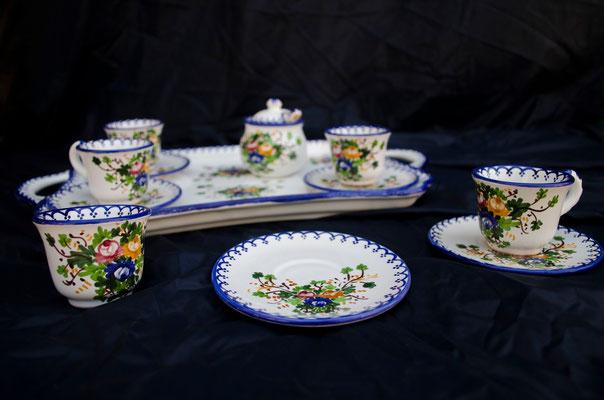 CERAMICA CAPETOLA Servizio tazzine n.4 ceramica abruzzese