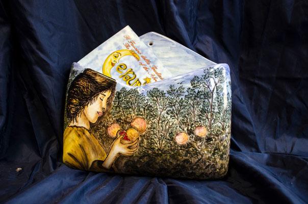 CERAMICA CAPETOLA Porta lettere ceramica abruzzese