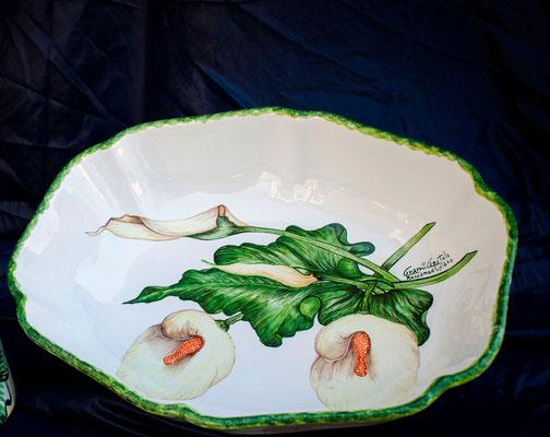 CERAMICA CAPETOLA Centrotavola tulipano  ceramica abruzzese