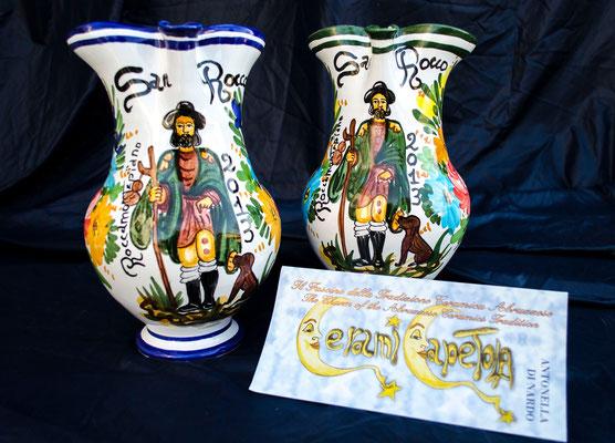 Brocca 2 litri San Rocco,Ceramicapetola