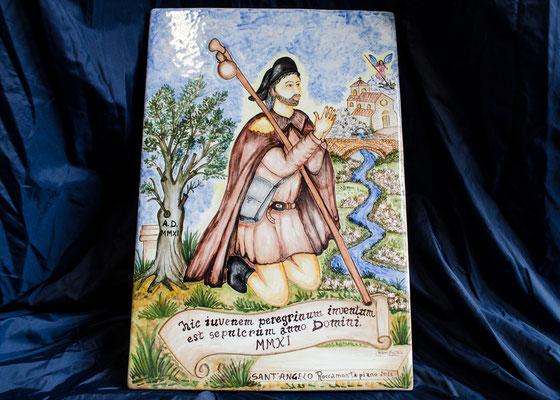 CERAMICA CAPETOLA Pellegrino San Rocco cm30X40 ceramica abruzzese