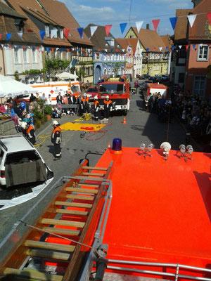 Florianstag - Gemeinsame Übung mit FFW Stadelschwarzach und BRK Bereitschaft Prichsenstadt