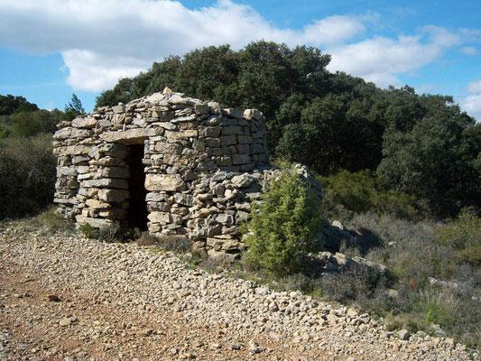 Capitelle, cabane de vigneron dans l'Aude