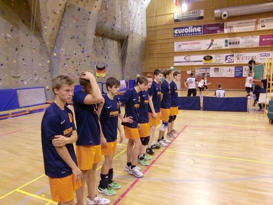 Aufstellung zum Halbfinale gegen Elion Polva/Estland