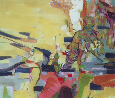 Der Bote-4, 2003, Öl auf Leinwand, 180 x 210 cm