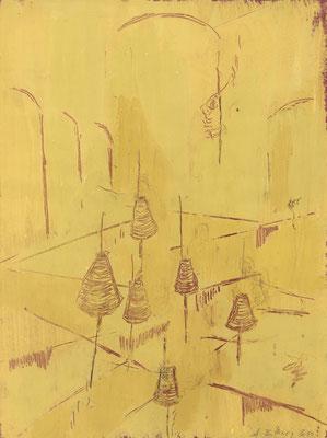 Arbeit-2, 2010, Gouache auf Papier, 40 x 30 cm