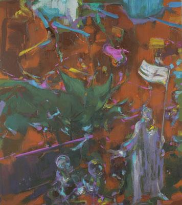 Alte Szene, 2019, Öl auf Leinwand, 180 x 160 cm