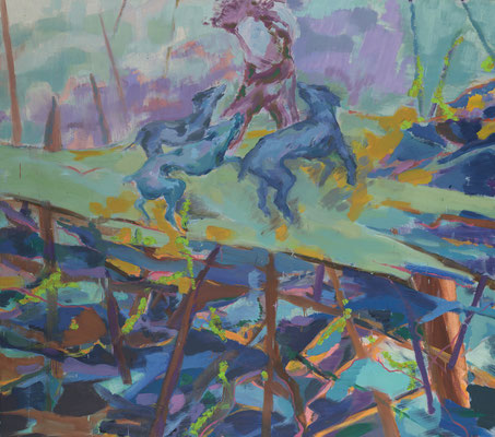 Arena-1, 2009, Öl auf Leinwand, 160 x 180 cm