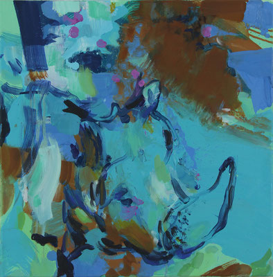 Early sound-4, 2018, Öl auf Leinwand, 50 x 50 cm