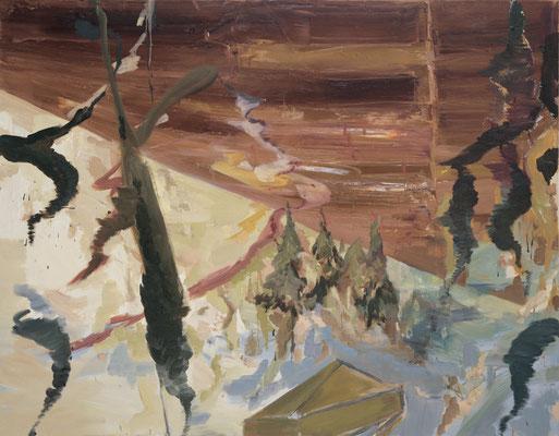 Skyline, 2006, Öl auf Leinwand, 140 x 180 cm