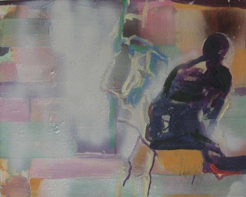 Pellegrino, 2003, Öl auf Leinwand, 40 x 50 cm