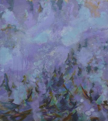 Fernwald, 2013, Öl auf Leinwand, 90 x 80 cm
