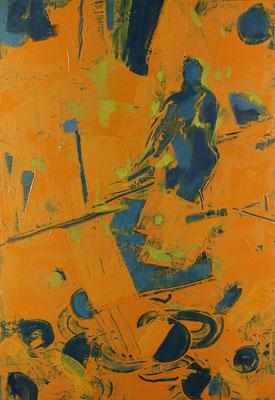 Sucher, 2017, Öl auf Leinwand, 60 x 40 cm