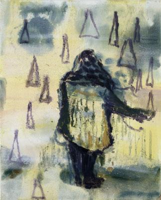 Blitzeis, 2005, Öl auf Leinwand, 50 x 40 cm