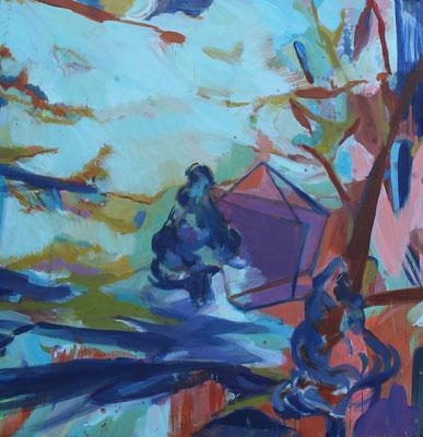 Im Gebiet-1, 2012, Öl auf Leinwand, 130 x 125 cm