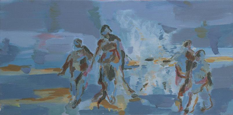 Landgang, 2007, Öl auf Leinwand, 40 x 80 cm