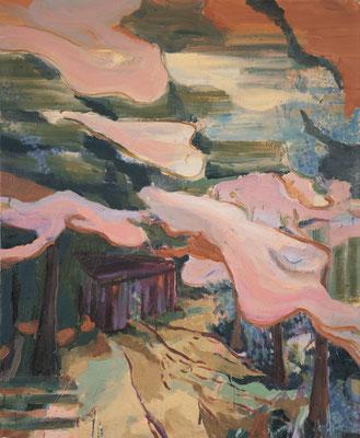 Hütte, 2006, Öl auf Leinwand, 170 x 140 cm