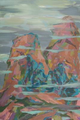 Besiedlung-2, 2008, Öl auf Leinwand, 150 x 100 cm
