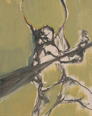 Eroberer-1, 2008, Öl auf Leinwand, 30 x 24 cm