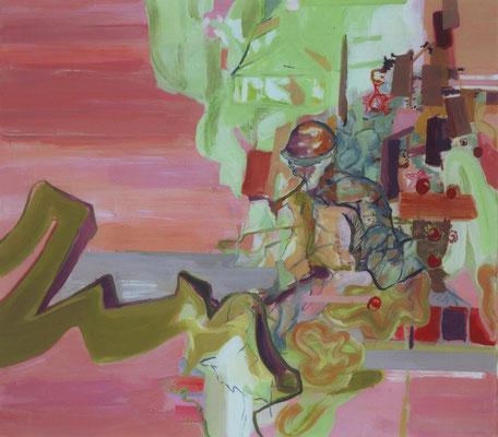 Der Bote-2, 2003, Öl auf Leinwand, 160 x 180 cm