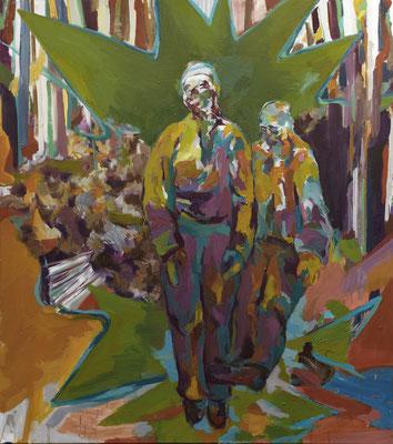 Die Ahnen, 2012, Öl auf Leinwand, 180 x 160 cm