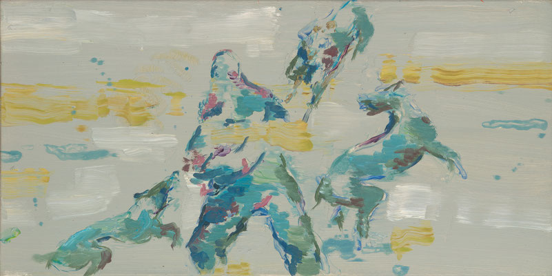 Arena-2, 2009, Öl auf Leinwand, 40 x 80 cm
