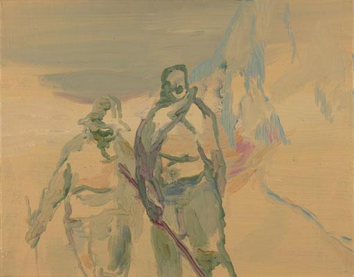 Kreuzfahrer, 2008, Öl auf Leinwand, 50 x 60 cm