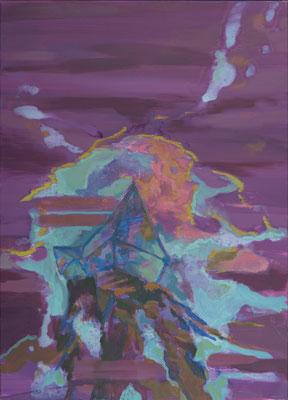 Höher gelegen-2, 2009, Öl auf Leinwand, 120 x 85 cm