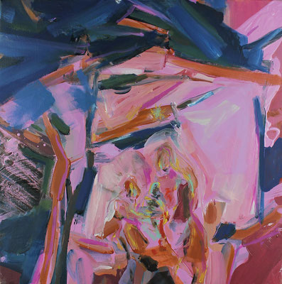 O.T., 2017, Öl auf Leinwand, 50 x 50 cm